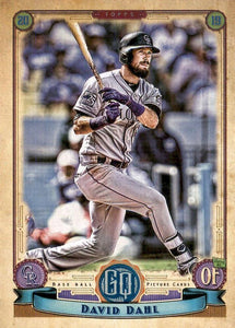 2019 Topps Gypsy Queen Baseball Cards (201-300): #241 David Dahl