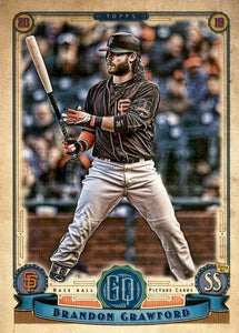 2019 Topps Gypsy Queen Baseball Cards (201-300): #265 Brandon Crawford