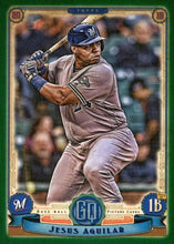 Load image into Gallery viewer, 2019 Topps Gypsy Queen Baseball GREEN Parallels: #2 Jesus Aguilar