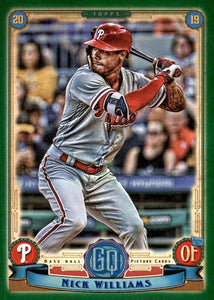 2019 Topps Gypsy Queen Baseball GREEN Parallels: #70 Nick Williams