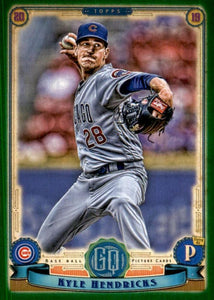 2019 Topps Gypsy Queen Baseball GREEN Parallels: #83 Kyle Hendricks