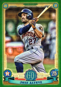 2019 Topps Gypsy Queen Baseball GREEN Parallels: #166 Jose Altuve