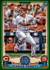 2019 Topps Gypsy Queen Baseball GREEN Parallels: #173 Scooter Gennett