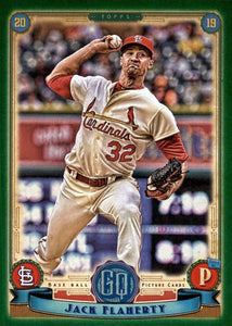 2019 Topps Gypsy Queen Baseball GREEN Parallels: #175 Jack Flaherty