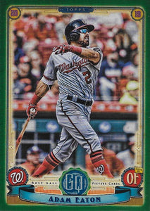 2019 Topps Gypsy Queen Baseball GREEN Parallels: #179 Adam Eaton