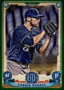 2019 Topps Gypsy Queen Baseball GREEN Parallels: #191 Corbin Burnes