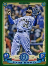 Load image into Gallery viewer, 2019 Topps Gypsy Queen Baseball GREEN Parallels: #194 Jeremy Jeffress