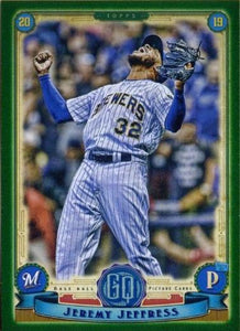 2019 Topps Gypsy Queen Baseball GREEN Parallels: #194 Jeremy Jeffress