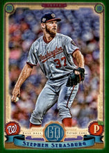 Load image into Gallery viewer, 2019 Topps Gypsy Queen Baseball GREEN Parallels: #211 Stephen Strasburg