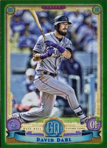 2019 Topps Gypsy Queen Baseball GREEN Parallels: #241 David Dahl