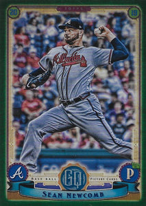 2019 Topps Gypsy Queen Baseball GREEN Parallels: #250 Sean Newcomb