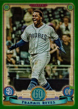 Load image into Gallery viewer, 2019 Topps Gypsy Queen Baseball GREEN Parallels: #289 Franmil Reyes