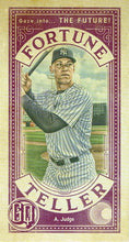 Load image into Gallery viewer, 2019 Topps Gypsy Queen Baseball FORTUNE TELLER MINI Inserts: #FTM-AJ Aaron Judge