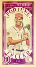 Load image into Gallery viewer, 2019 Topps Gypsy Queen Baseball FORTUNE TELLER MINI Inserts: #FTM-JS Juan Soto