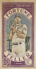 Load image into Gallery viewer, 2019 Topps Gypsy Queen Baseball FORTUNE TELLER MINI Inserts: #FTM-JV Justin Verlander