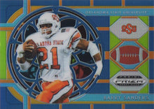 Load image into Gallery viewer, 2019 Panini Prizm Draft Picks BLUE REFRACTOR Parallels: #33 Barry Sanders SG