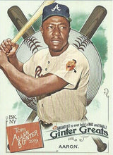 Load image into Gallery viewer, 2019 Topps Allen & Ginter GINTER GREATS Cards: #GG-1 Hank Aaron