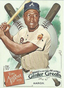 2019 Topps Allen & Ginter GINTER GREATS Cards: #GG-1 Hank Aaron