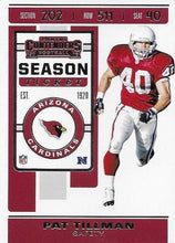 Load image into Gallery viewer, 2019 Panini Contenders Base Veteran Cards #1-100 - Pick Your Cards: #1 Pat Tillman