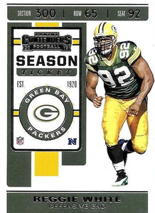 2019 Panini Contenders Base Veteran Cards #1-100 - Pick Your Cards: #2 Reggie White