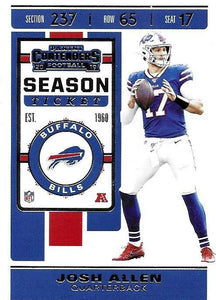 2019 Panini Contenders Base Veteran Cards #1-100 - Pick Your Cards: #3 Josh Allen