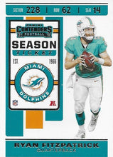 Load image into Gallery viewer, 2019 Panini Contenders Base Veteran Cards #1-100 - Pick Your Cards: #6 Ryan Fitzpatrick