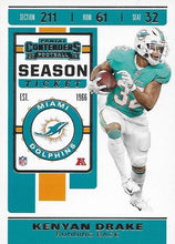 Load image into Gallery viewer, 2019 Panini Contenders Base Veteran Cards #1-100 - Pick Your Cards: #7 Kenyan Drake
