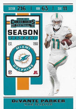 Load image into Gallery viewer, 2019 Panini Contenders Base Veteran Cards #1-100 - Pick Your Cards: #8 DeVante Parker