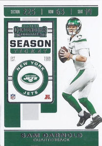 2019 Panini Contenders Base Veteran Cards #1-100 - Pick Your Cards: #12 Sam Darnold