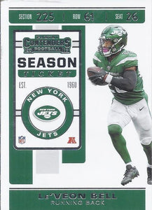 2019 Panini Contenders Base Veteran Cards #1-100 - Pick Your Cards: #13 Le'Veon Bell