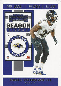 2019 Panini Contenders Base Veteran Cards #1-100 - Pick Your Cards: #16 Earl Thomas III