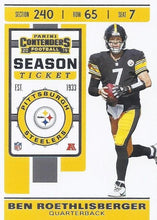 Load image into Gallery viewer, 2019 Panini Contenders Base Veteran Cards #1-100 - Pick Your Cards: #21 Ben Roethlisberger