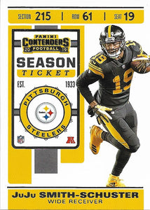 2019 Panini Contenders Base Veteran Cards #1-100 - Pick Your Cards: #22 JuJu Smith-Schuster