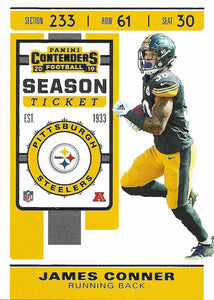 2019 Panini Contenders Base Veteran Cards #1-100 - Pick Your Cards: #23 James Conner
