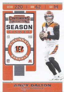 2019 Panini Contenders Base Veteran Cards #1-100 - Pick Your Cards: #24 Andy Dalton