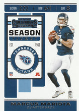 Load image into Gallery viewer, 2019 Panini Contenders Base Veteran Cards #1-100 - Pick Your Cards: #27 Marcus Mariota