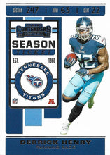 Load image into Gallery viewer, 2019 Panini Contenders Base Veteran Cards #1-100 - Pick Your Cards: #28 Derrick Henry