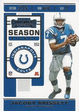 Load image into Gallery viewer, 2019 Panini Contenders Base Veteran Cards #1-100 - Pick Your Cards: #30 Jacoby Brissett