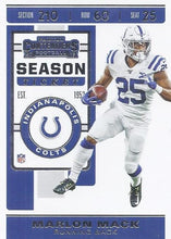Load image into Gallery viewer, 2019 Panini Contenders Base Veteran Cards #1-100 - Pick Your Cards: #31 Marlon Mack