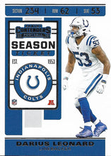 Load image into Gallery viewer, 2019 Panini Contenders Base Veteran Cards #1-100 - Pick Your Cards: #32 Darius Leonard
