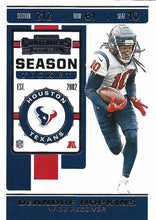 Load image into Gallery viewer, 2019 Panini Contenders Base Veteran Cards #1-100 - Pick Your Cards: #35 DeAndre Hopkins