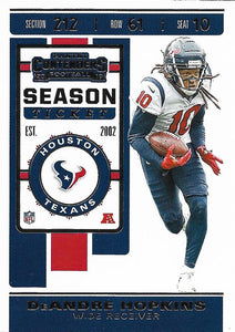 2019 Panini Contenders Base Veteran Cards #1-100 - Pick Your Cards: #35 DeAndre Hopkins