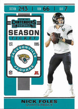 Load image into Gallery viewer, 2019 Panini Contenders Base Veteran Cards #1-100 - Pick Your Cards: #36 Nick Foles