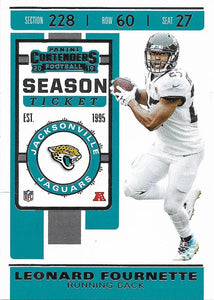 2019 Panini Contenders Base Veteran Cards #1-100 - Pick Your Cards: #37 Leonard Fournette