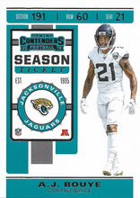 Load image into Gallery viewer, 2019 Panini Contenders Base Veteran Cards #1-100 - Pick Your Cards: #38 A.J. Bouye