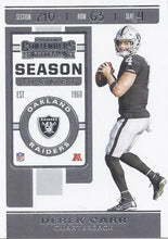 Load image into Gallery viewer, 2019 Panini Contenders Base Veteran Cards #1-100 - Pick Your Cards: #42 Derek Carr