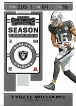 Load image into Gallery viewer, 2019 Panini Contenders Base Veteran Cards #1-100 - Pick Your Cards: #43 Tyrell Williams