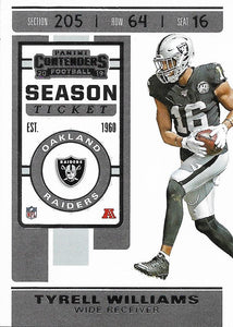 2019 Panini Contenders Base Veteran Cards #1-100 - Pick Your Cards: #43 Tyrell Williams