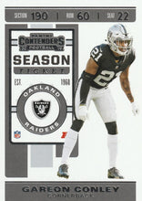 Load image into Gallery viewer, 2019 Panini Contenders Base Veteran Cards #1-100 - Pick Your Cards: #44 Gareon Conley
