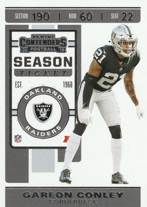 2019 Panini Contenders Base Veteran Cards #1-100 - Pick Your Cards: #44 Gareon Conley